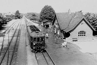 Vangede station - Vangede Station in 1953