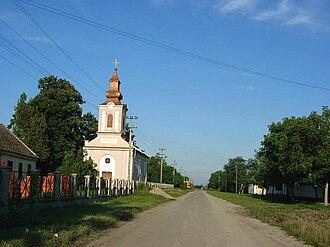 Vatin - The main street and the Orthodox Church