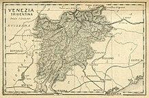 Mappa della Venezia Tridentina pubblicata nel 1921