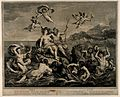 Venus and Neptune sit on the scallop shell chariot amidst th Wellcome V0017041.jpg