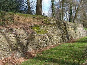 Verulamium - Another stretch of Roman wall