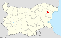 Vetrino Municipality within Bulgaria and Varna Province.