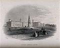 Victoria Hospital, Netley, Hampshire. Line engraving by E. A Wellcome V0013981.jpg