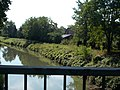View from Route 1401 bridge over the Leitha toward Lucsony, 2017 Mosonmagyaróvár.jpg