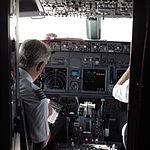 View inside cockpit after landing at Krakow airport.JPG