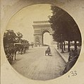 View of The Arc de Triomphe, Paris, France, with Carriages in the Street, 1880s - 1890s.jpg