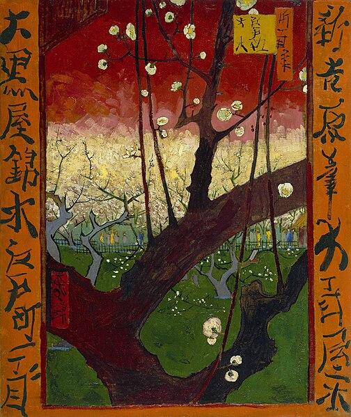 File:Vincent van Gogh - Bloeiende pruimenboomgaard- naar Hiroshige - Google Art Project.jpg