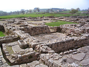 Vindolanda was a Roman auxiliary fort located ...