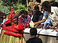 Vishnumoorthi blessing the devotees.jpg