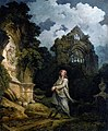 Visitor to moonlit churchyard.jpg