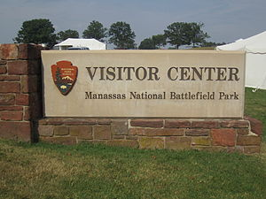 Manassas National Battlefield Park - Manassas Battlefield sign