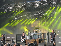Volbeat live til Tuska Open Air i juni 2009.