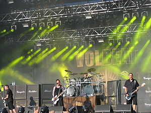 Volbeat discography - Volbeat live at the Tuska Open Air in June 2009.