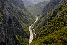 Vrbas river canyon