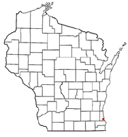 Location of Oak Creek, Wisconsin