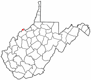 Boaz, West Virginia - Image: WV Map doton Boaz