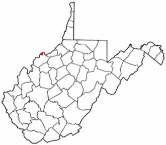 Boaz, West Virginia - Image: WV Map doton Boaz