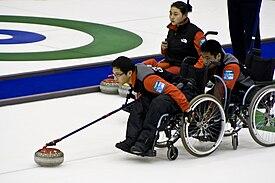 Equipo Paralímpico Chino de Curling en silla de ruedas