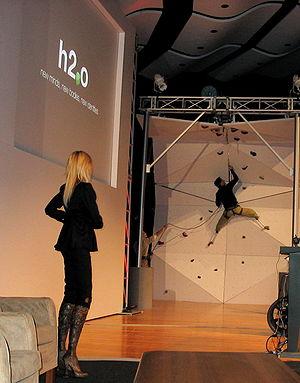 Aimee Mullins - Image: Wall climbing at h 2.0 (541889183)