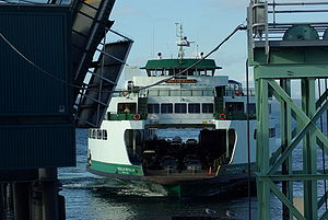 Edmonds–Kingston ferry - Walla Walla approaching Edmonds ferry terminal