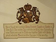 Wandmalerei zum Unfall König Friedrich August von Sachsens im Hotel Neuner in Imst (Quelle: Wikimedia)