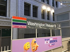 Washington/Wabash station - Image: Washington Wabash 01