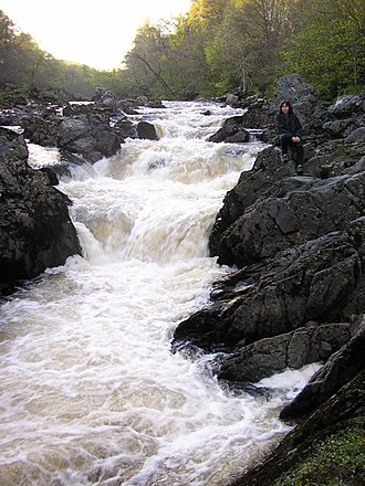 River North Esk, Angus - Waterfalls at the Rocks of Solitude, River North Esk