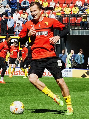 Dániel Tőzsér - Tőzsér playing for Watford F.C.