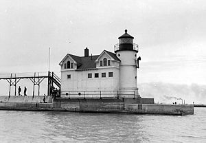 English: Waukegan Harbor Light, Illinois, afte...