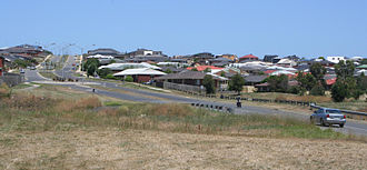 Waurn Ponds, Victoria - View of the suburb south from Rossack Drive
