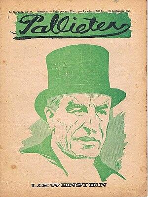 Easter Hero - Alfred Loewenstein, Easter Hero's fourth owner depicted in 1926