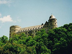 Wewelsburg - Wewelsburg, seen from the Alme valley
