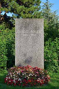 Wiener Zentralfriedhof - Gruppe 32 C - Guido Adler.jpg