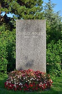 Grab von Guido Adler am Wiener Zentralfriedhof (Quelle: Wikimedia)