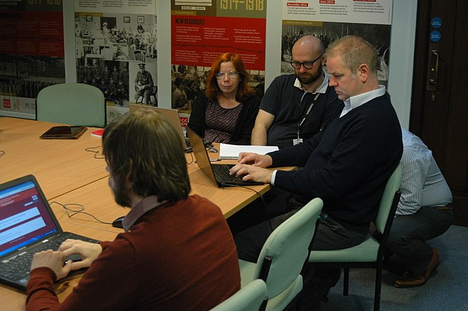 Wikidata Edit-a-thon at National Library of Wales 02.jpg