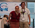 Wikimania 2009 - Alice and Lodewijk.jpg