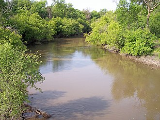 Wild Rice River (North Dakota) - The Wild Rice River near Abercrombie in 2007