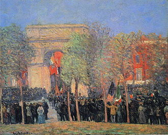 William Glackens - Italo-American Celebration, Washington Square, 1912, Boston Museum of Fine Arts