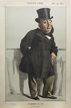 "William Henry Gregory - ""An art critic"" Gregory as caricatured by James Tissot in Vanity Fair, December 1871"
