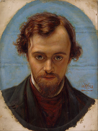 Dante Gabriel Rossetti - Portrait of Dante Gabriel Rossetti at 22 years of Age by William Holman Hunt