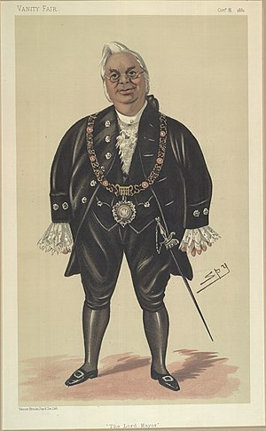 Lord Mayor of London - Sir William McArthur, Lord Mayor of London, caricatured by Leslie Ward, 1881