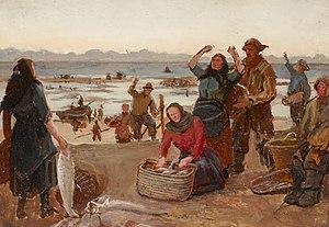 William Morrison Wyllie - Fisher Girls (Southwark Art Collection)
