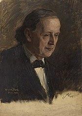 Ohne Titel (Portraitstudie Johannes Vahlen). Studie zu dem verschollenen Gemälde \