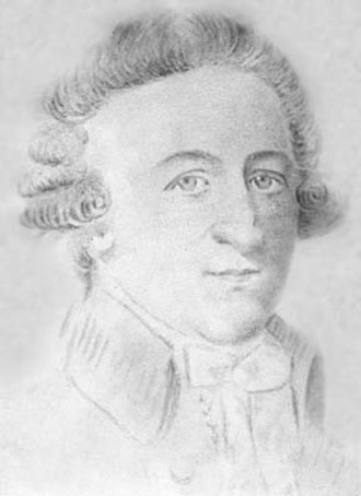 William Townshend (colonial governor) - Pencil drawing of William Townshend by an unknown artist