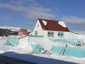 Geography of Saint Pierre and Miquelon - Winters in Saint-Pierre feature windswept snowfalls, 28 January 2005