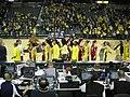 Wisconsin vs. Michigan women's basketball 2013 43 (post-game handshake).jpg