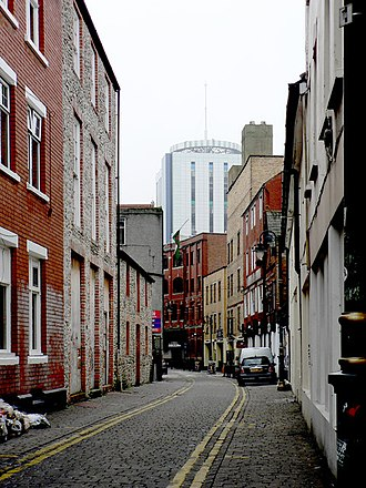 Cardiff city centre - Womanby Street looking south
