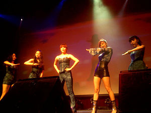 "Wonder Girls - Wonder Girls performing ""Tell Me"" at The Fillmore in San Francisco on June 13, 2010. From left to right: Yeeun, Sohee, Hyerim, Yubin and Sunye."
