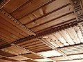 Wooden ceiling of Museum of Musical Instruments and Hutsuls Lifestyle In Verkhovyna, Western Ukraine.jpg