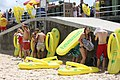 World record attempt at the Havaianas Australia Day Thong Challenge (6764033769).jpg